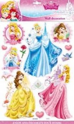Princezny - 3D samolepky na zeď
