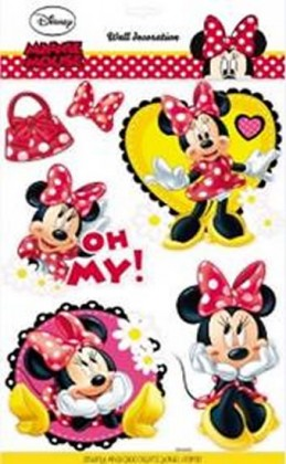 Minnie - 3D samolepky na zeď