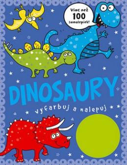 Dinosaury vyfarbuj a nalepuj