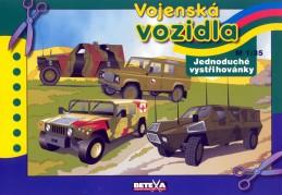 Vojenská vozidla - vystřihovánky
