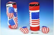 Boxovací pytel + rukavice v síťce 45x15cm