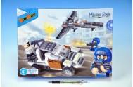BanBao stavebnice Mission Eagle auto lupičů se stíhačkou 295ks + 3 figurky ToBees v krabičce