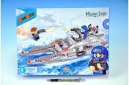 BanBao stavebnice Mission Eagle člun BB-03 275ks + 3 figurky ToBees v krabičce