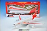 Letadlo plast 40cm na setrvační na baterie v krabici