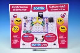 Stavebnice Boffin 750 elektronická 750 projektů na baterie 80ks v krabici - Rock David