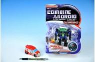 Transformer robot/auto plast 11cm asst 2 druhy na kartě