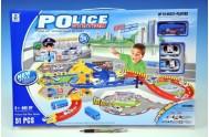 Policejní dráha set plast 36x88cm v krabici