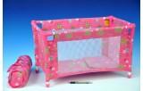 Postýlka pro panenky kov/plast v tašce 53x32x32cm v sáčku