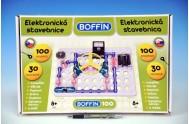 Stavebnice Boffin 100 elektronická 100 projektů na baterie 30ks v krabici
