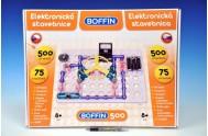 Stavebnice Boffin 500 elektronická 500 projektů na baterie 75ks v krabici