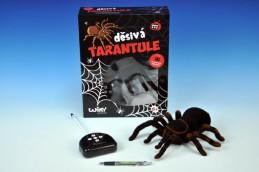 Děsivá Tarantule RC plast na baterie 4xAA a 1x9V 27 MHz 33x26,5x9,5cm v krabici - Rock David