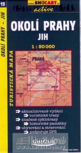 Okolí Prahy-jih 1:50T - turist .mapa