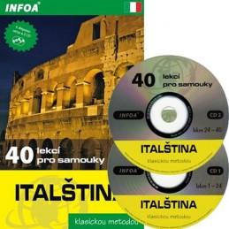 Italština - 40 lekcí pro samouky + 2 CD