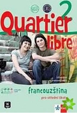 Quartier libre 2 - učebnice + PS + CD+ DVD + časopis La revue de jeunes - Bosquet a kolektiv M.