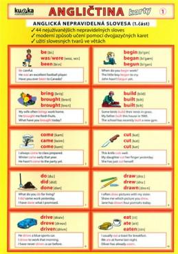Angličtina karty 1 - nepravidelná slovesa - Kupka a kolektiv Petr