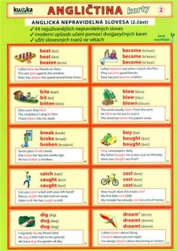 Angličtina karty 2 - nepravidelná slovesa - Kupka a kolektiv Petr