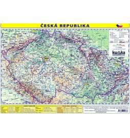 Česká republika - mapa A4 lamino