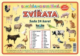Domácí a hospodářská zvířata - Sada 24 karet - Kupka a kolektiv Petr