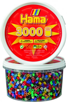 Hama H210-67 - Zažehlovací korálky MIDI v tubě mix 3.000 ks