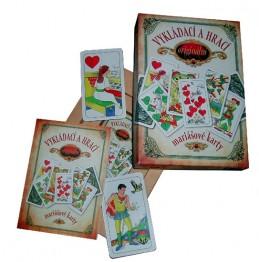 Vykládací a hrací originální mariášové karty – dárkový komplet - Hrubý Jan