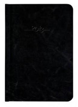 Diář kožený 2013 - CARUS černý - denní B6 - neuveden