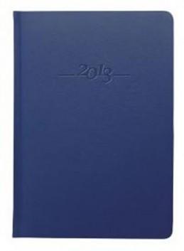 Diář kožený 2013 - CARUS modrý - týdenní A5 - neuveden