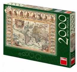 Historická mapa světa - puzzle 2000 dílk - neuveden