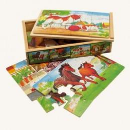 Puzzle v krabičce - zvířátka - neuveden