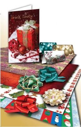 Vánoční dárkový set - Velká souprava na balení dárků - neuveden