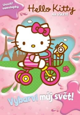 Hello Kitty na výletě - Vybarvi můj svět! + samolepky - Sanrio