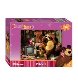 Puzzle 80Máša a Medvěd - Pohroma