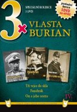 3x DVD - Vlasta Burian IV. - neuveden