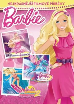 Barbie - Nejkrásnější filmové příběhy (Princezna a zpěvačka, Tajemství víl a Příběh mořské panny 2) - Mattel