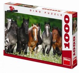 Koně na louce - puzzle 1000 dílků - neuveden