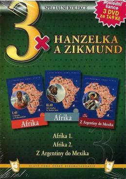 3x Hanzelka a Zikmund - Afrika I. / Afrika II. / Z Argentiny do Mexika - neuveden