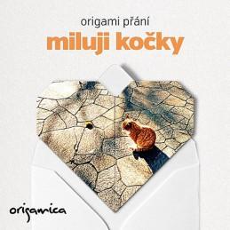 Origami přání - Miluji kočky (zrzeček) - neuveden