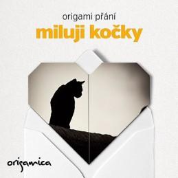 Origami přání - Miluji kočky (černá) - neuveden
