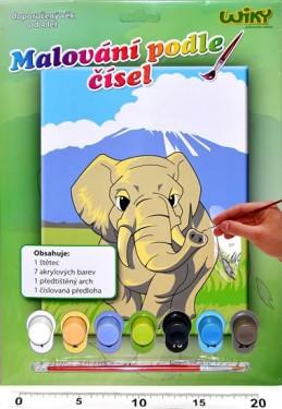 Malování podle čísel - Slon - neuveden