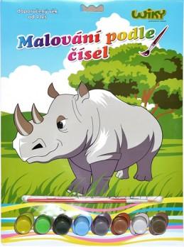 Malování podle čísel - Nosorožec - neuveden