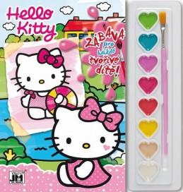 Hello Kitty - Omalovánky s barvami - neuveden