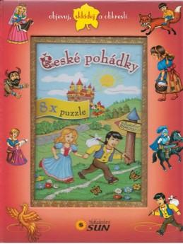 České pohádky - 8x puzzle, objevuj, skládej a obkresli - neuveden