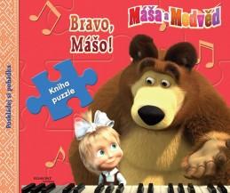 Máša a medvěd Bravo, Mášo - Kniha puzzle - Disney Walt