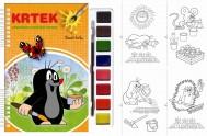 Krtek - Omalovánky s vodovými barvami a štětcem