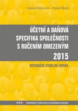 Účetní a daňová specifika s.r.o. 2015 - Březinová Hana, Štohl Pavel,