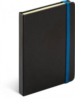 Notes Tucson černá/modrá, 13 x 21 cm - neuveden