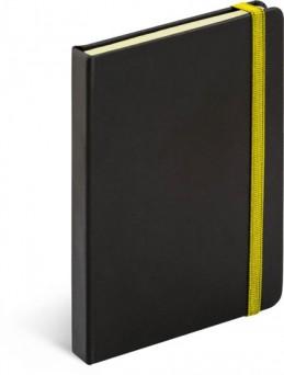 Notes Tucson černá/žlutá, 13 x 21 cm - neuveden