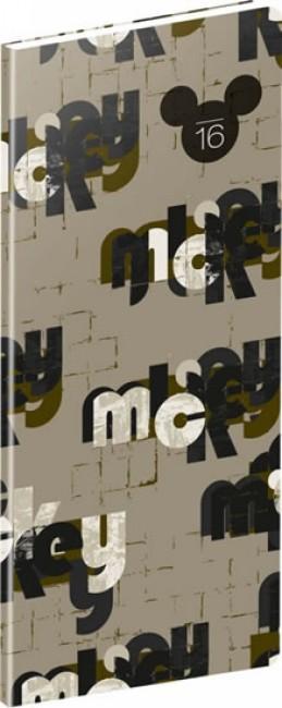 Diář 2016 - W. D. Mickey - kapesní plánovací měsíční, 8 x 18 cm - neuveden
