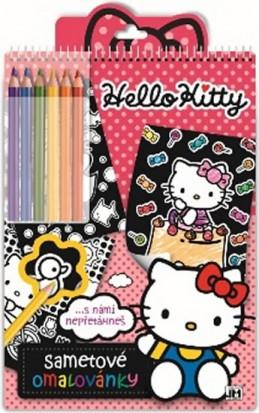 Hello Kitty - Sametové omalovánky - neuveden