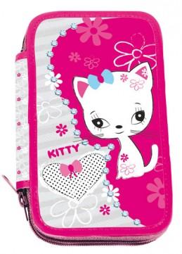 Školní penál dvoupatrový - Kitty - neuveden