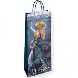 Alfons Mucha - The Moon - dárková taška na lahev - neuveden